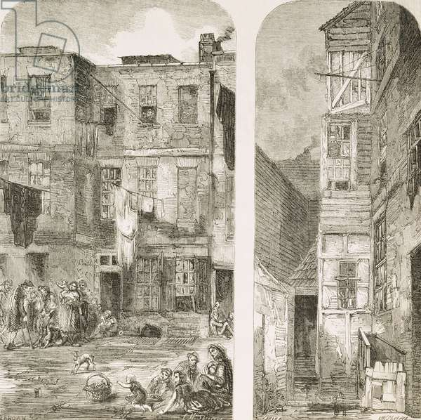 The Homes of the London Poor, from `The Builder Magazine', 1854 (detail 58300)