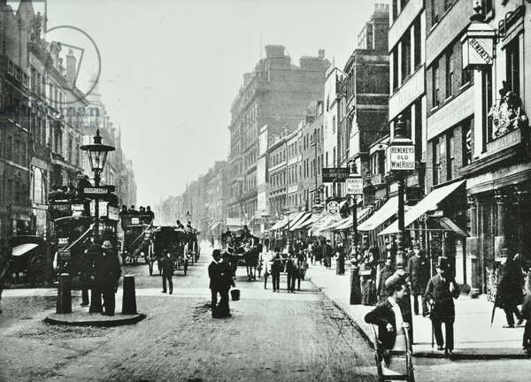 High Holborn: looking west from Gray's Inn Road, London, 1900 (b/w photo)
