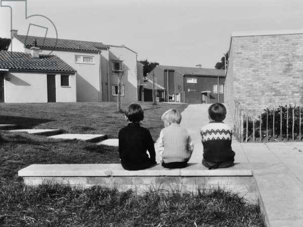 Clement's Housing Estate, Haverhill, Suffolk, 1968 (b/w photo)