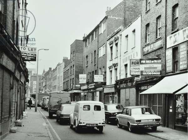 Brick Lane: by Bacon Street, London, 1976 (b/w photo)