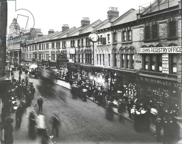 Saint John's Road: rooftop view, London, 1912 (b/w photo)
