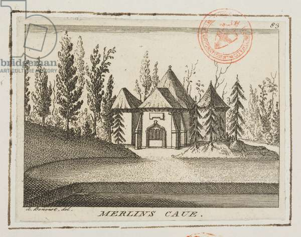 View of Merlin's Cave, Kew Gardens, illustration from 'Lysons' Environs of London', c.1750 (engraving)