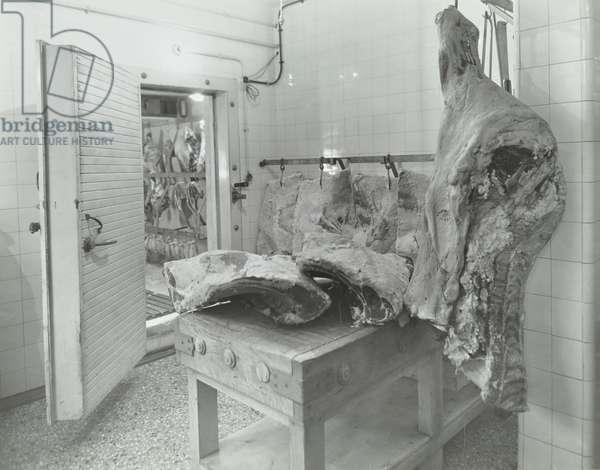 Brook Hospital: butcher's shop, 1939 (b/w photo)