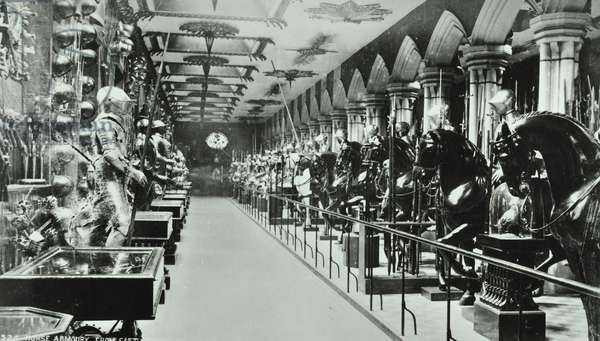Tower of London, Tower Hill: armoury, 1900 (b/w photo)