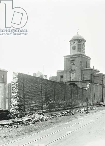 East India Dock gates, London, 1912 (b/w photo)