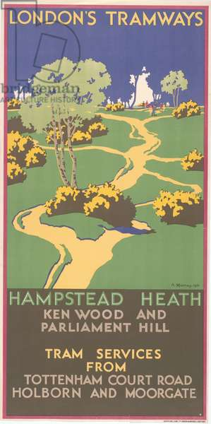 Hampstead Heath, Kenwood And Parliament Hill, 1931 (colour litho)