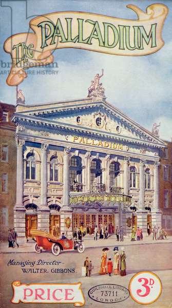 Programme Cover for `The Palladium', c.1912