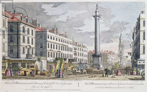 Monument erected in Memory of the Fire of London, (engraving)