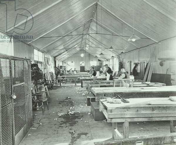 Sutton Training Centre: carpenter's shop, 1935 (b/w photo)