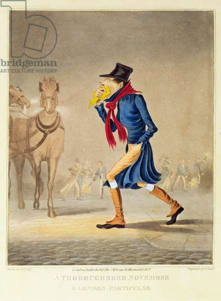 A Throroughbred November and London Particular, pub. by T. McLean, 1827 (litho)