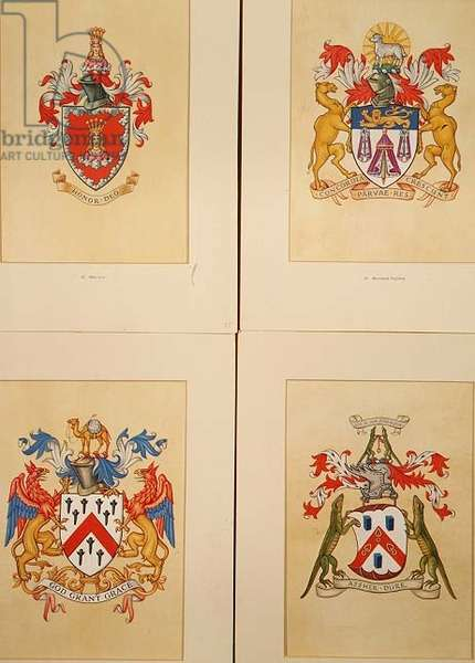Crests of the Mercers, Merchant Tailors, Grocers and Ironmongers Guilds