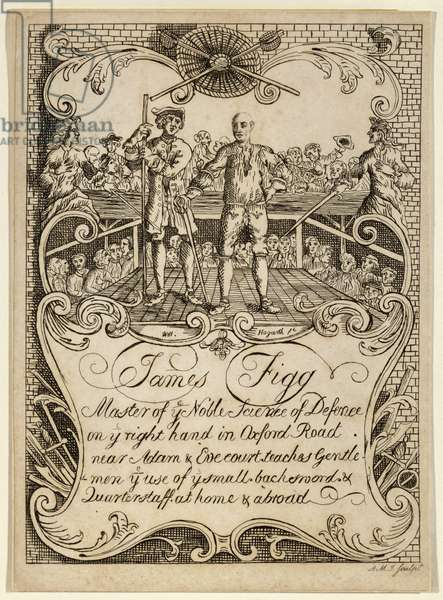 Trade Card of James Figg, Master of Self Defence