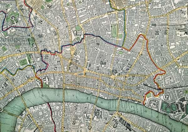 Map of London, 1852 (litho)