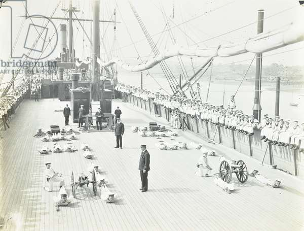 Exmouth Training Ship, Essex, 1910 (b/w photo)