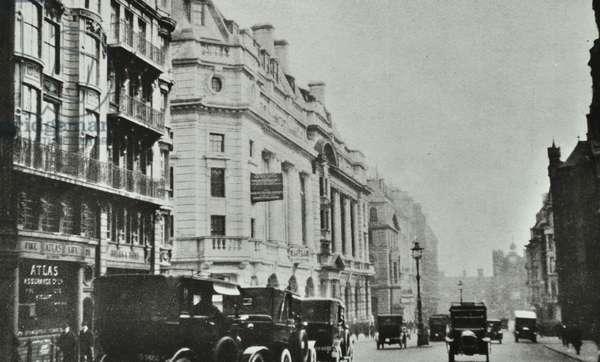 Saint James's Street, Westminster LB: looking south, 1930 (b/w photo)
