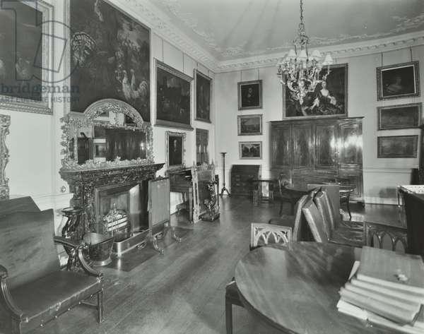 Norfolk House, 31 Saint James's Square, Westminster LB: morning room, 1937 (b/w photo)