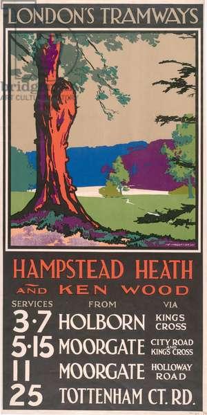 Hampstead Heath And Kenwood, 1929 (colour litho)