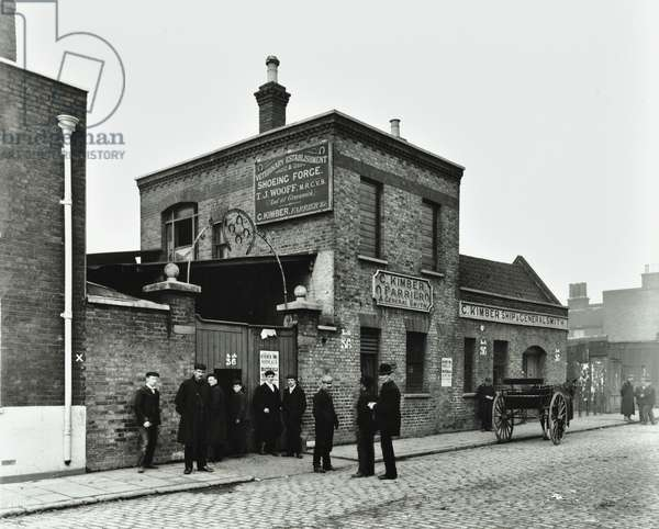 83 Albion Street: front elevation, London, 1903 (b/w photo)