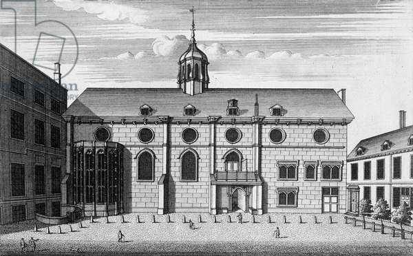 View of Grocers' Hall at the time it housed the Bank of England, c.1730 (engraving)