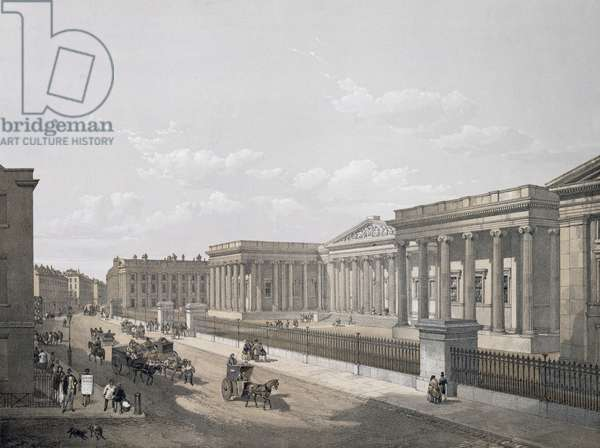 The British Museum, engraved by William Simpson (1823-99), pub. 1852 by Lloyd Bros. & Co. (lithograph)