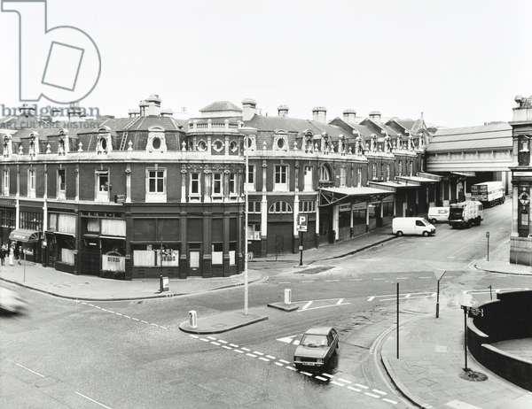 Smithfield Market, 1990 (b/w photo)