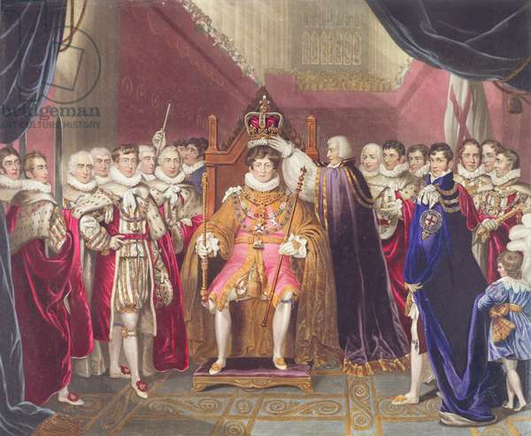 Coronation of George IV, plate from John Whittaker's 'Coronation of George IV', 1823