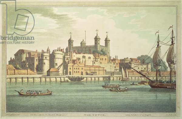 Tower of London, 1795 (colour litho)