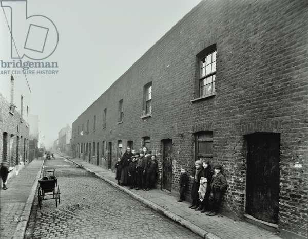 Beckett Street: looking west, London, 1903 (b/w photo)
