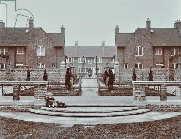 White Hart Lane Estate, London, 1908 (b/w photo)