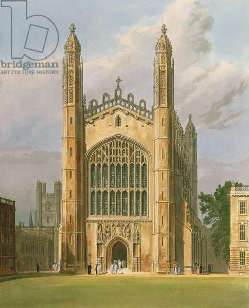 """Cambridge: Kings College from """"History of Cambridge"""", Vol.1 (print)"""