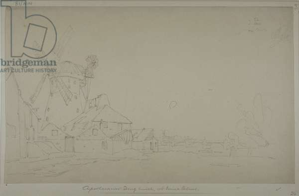 View of Randall's Moll, Nine Elms, 1833 (pencil on paper)