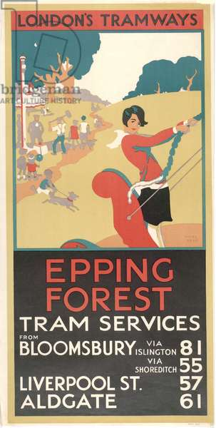 Epping Forest, 1929 (colour litho)