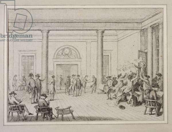 Interior of the Stock Exchange, c.1790 (etching)