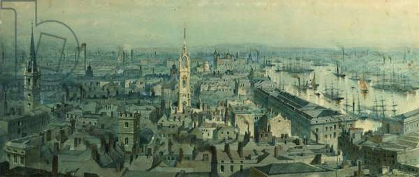 View of London from Monument looking East, 1848