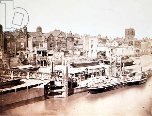View of Chelsea, c.1865 (sepia photo)