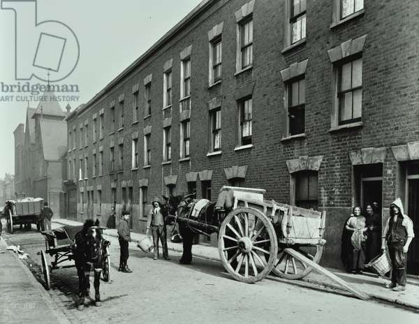 Beckett Street: looking east, London, 1903 (b/w photo)