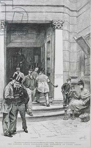 Stock Exchange Entrance in Capel Court, 1891 (engraving)