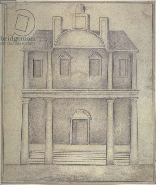 View of Blackfriars Theatre. c.1650 (pencil on paper)