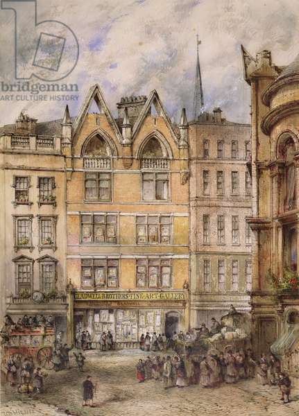 View of Gracechurch Street, 1882 (w/c on paper)