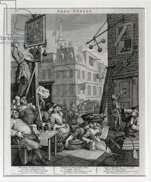 Beer Street, 1751 (engraving)