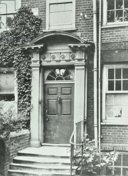 Upper Mall: Sussex House, entrance, London, 1910 (b/w photo)