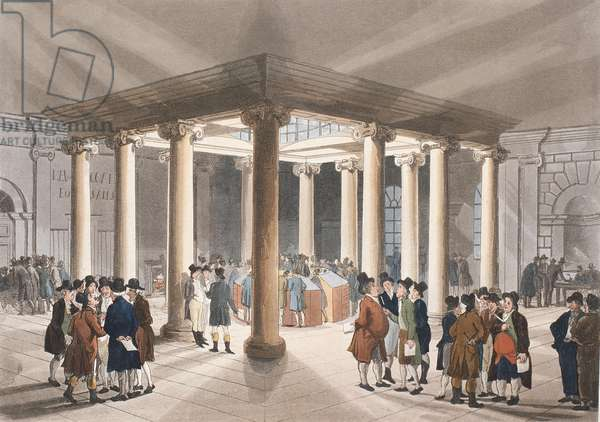 The Coal Exchange, Lower Thames Street from Ackermann's 'Microcosm of London'