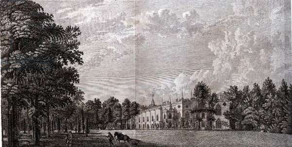 Strawberry Hill: East Front, 1784 (engraving)