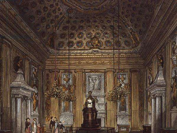 The Cupola Room, Kensington Palace from 'Pynes' Royal Residences', 1819, (engraving)