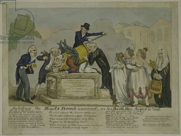 The Regent's Bomb, 1816 (coloured etching)