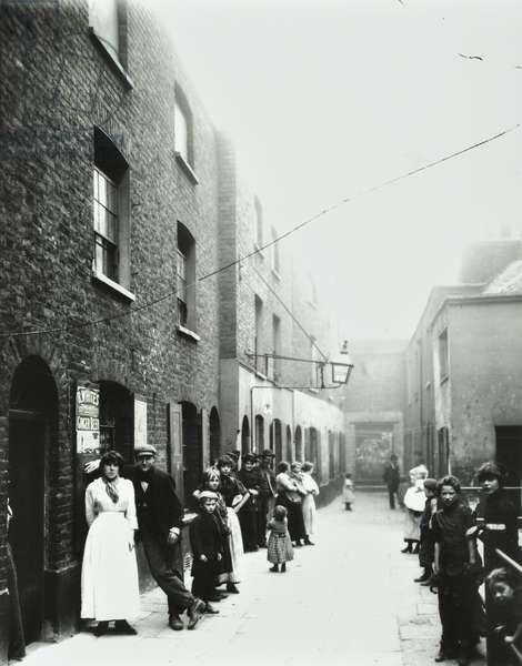 Wilmott's Buildings, Long Lane, London, 1900 (b/w photo)