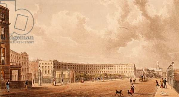 The Crescent, Portland Place, aquatint published in 1822