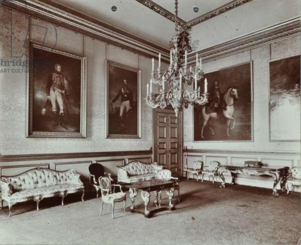 Saint James's Palace, Saint James's Palace, Westminster LB: blue room, 1907 (b/w photo)