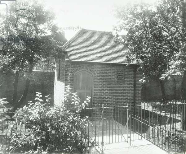 Loughborough Road Estate: Chapel of Repose, London, 1935 (b/w photo)