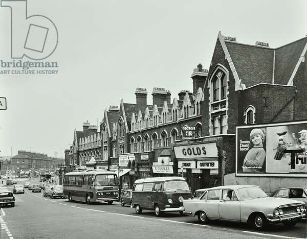 2-24 Queenstown Road: traffic conditions, London, 1969 (b/w photo)